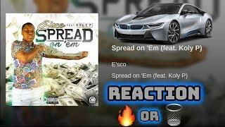 EMG 850 ft. KOLY P- SPREAD ON EM🔥MUSIC VIDEO (REACTION)