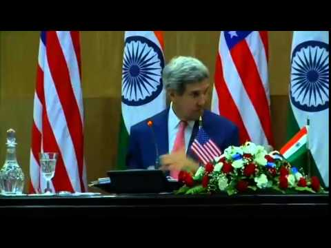 Secretary Kerry Delivers Remarks With Indian Minister for External Affairs Swaraj
