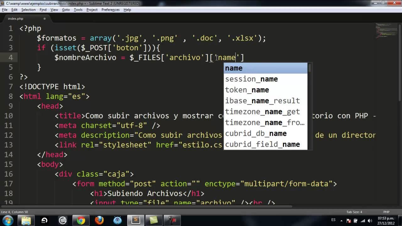 Como subir archivos y mostrar contenido de un directorio