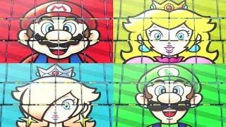 Super Mario Party - Peach vs Mario vs Luigi vs Rosalina - Minigames