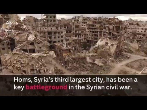 la ciudad siria de Homs a los ojos de un dron