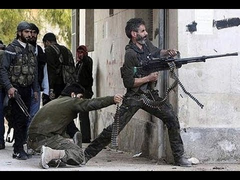 Syria War 2018   Battle of Afrin  Turkish backed Free Syrian Army in Firefights and Clashes