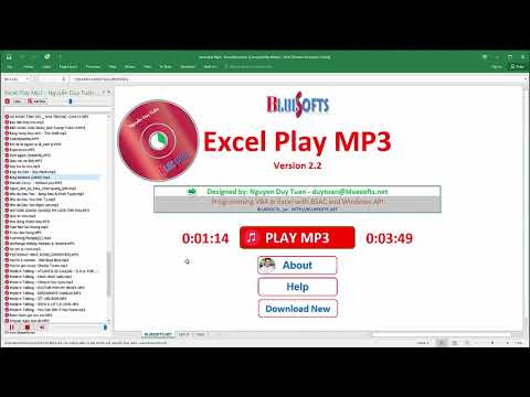 VBA programming play music mp3 in Excel -  Excel Play MP3 2.2