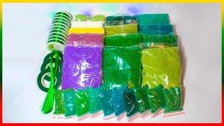 Распаковка бисера. 9 оттенков зеленого)))