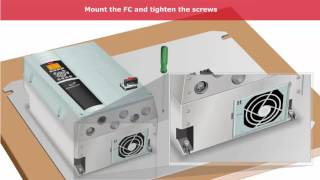 Danfoss Frequency Converter(Inverter) Lesson 03, FC300 IP55 - installation and connection