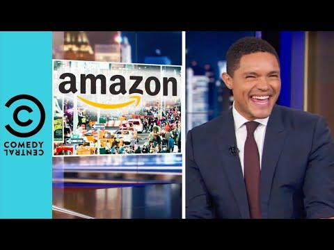 Amazon Is Taking Over New York | The Daily Show With Trevor Noah thumbnail