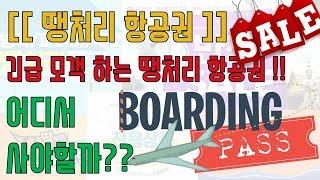 긴급모객하는 땡처리 항공권!! 어디서 사야할까!?