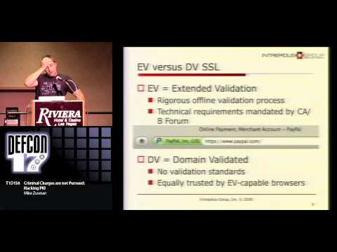 DEF CON 17 - Mike Zusman - Criminal Charges Not Pursued Hacking PKI