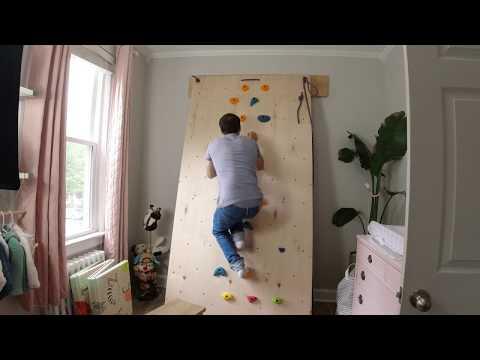 DIY Fully Adjustable Climbing Wall