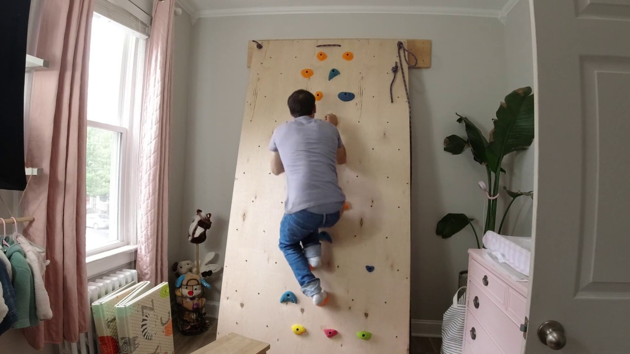 Diy Fully Adjustable Climbing Wall Youtube