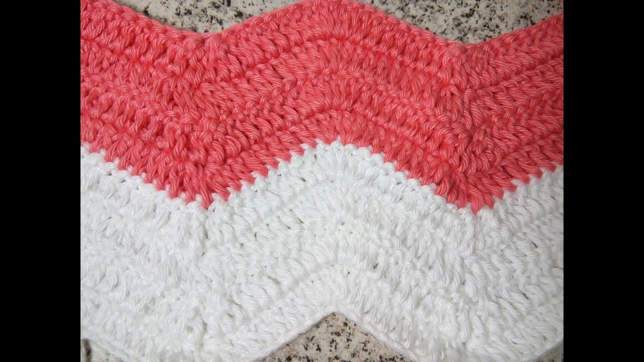 Ponto zig zag - croche - YouTube aa5400c683b