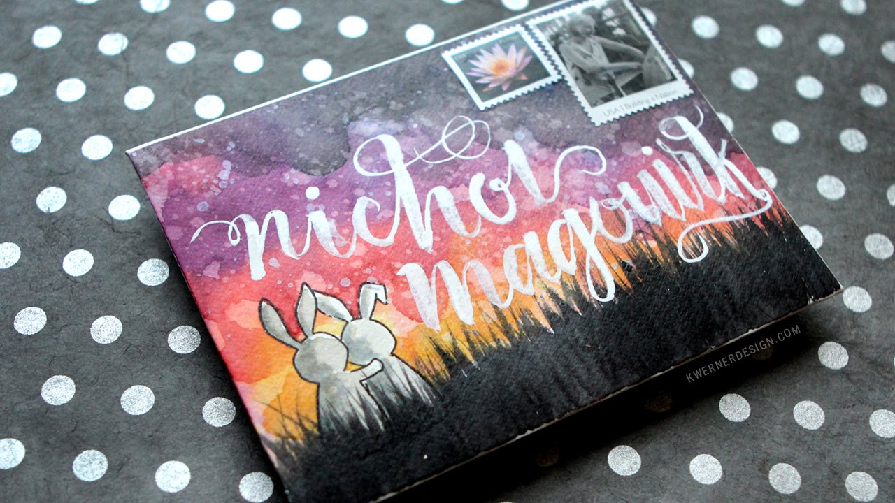 Mail Art Watercolor Envelope Amp How To Protect It In The