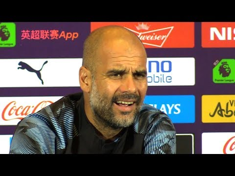 Pep Guardiola Pre-Match Press Conference - Wolves v Man City - Premier League Asia Trophy