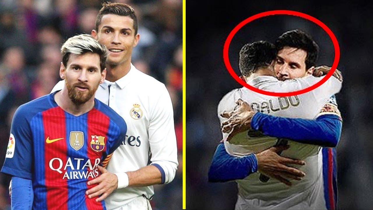 Cristiano Ronaldo Vs Lionel Messi Momentos Hermosos Respect Youtube