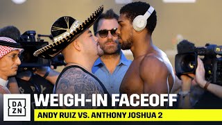 Andy Ruiz & Anthony Joshua Face-Off For Final Time Ahead Of Giant Rematch