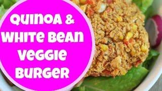 Quinoa & White Bean Veggie Burger Recipe | By: What Chelsea Eats