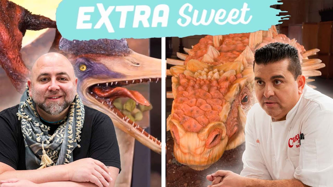 Download Buddy and Duff Create LIFE-SIZE Dinosaur Cakes: Extra Sweet | Buddy vs. Duff | Food Network