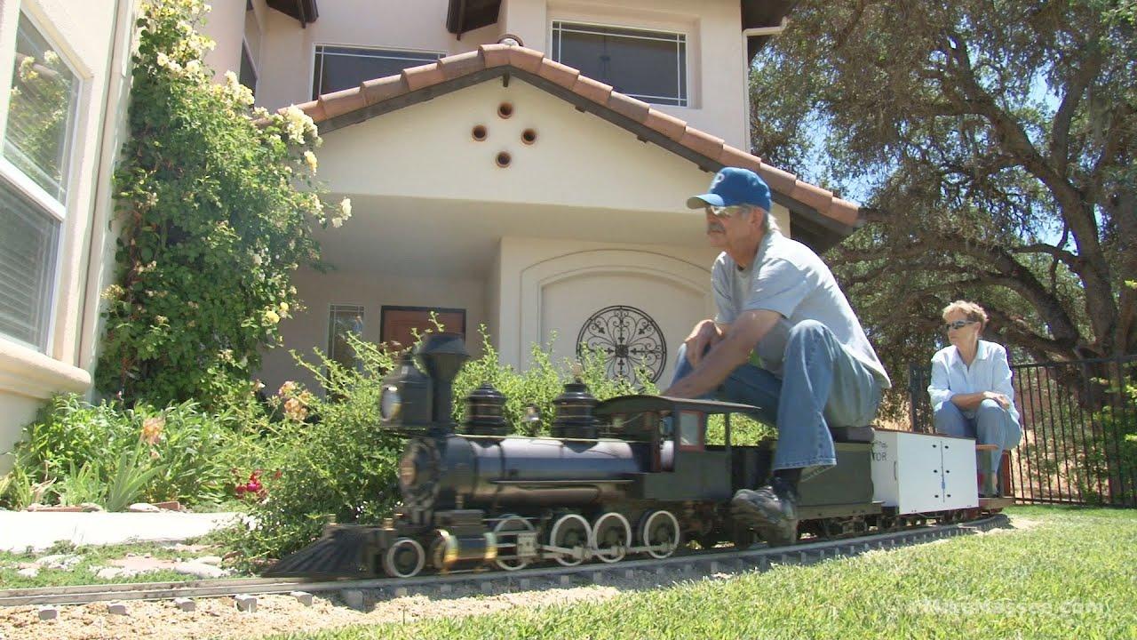 Backyard Train the amazing backyard railroad of jim sabin - full hd program - youtube