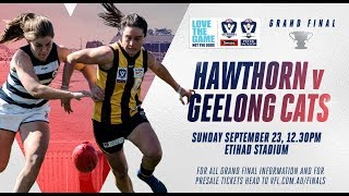 2018 Swisse Wellness VFL Women's #LovetheGame Grand Final: Hawthorn vs Geelong Cats