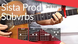 Eyes Blue Like The Atlantic (Sista Prod, Subvrbs) Guitar Tutorial | Chords