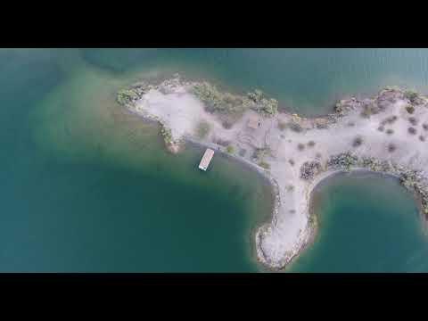 sand isle tropical aerial view
