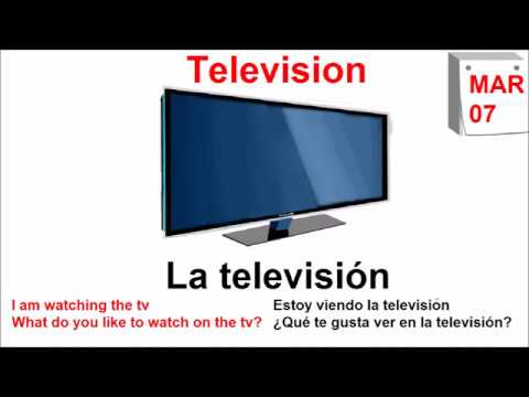 Word of the day - Television - La television