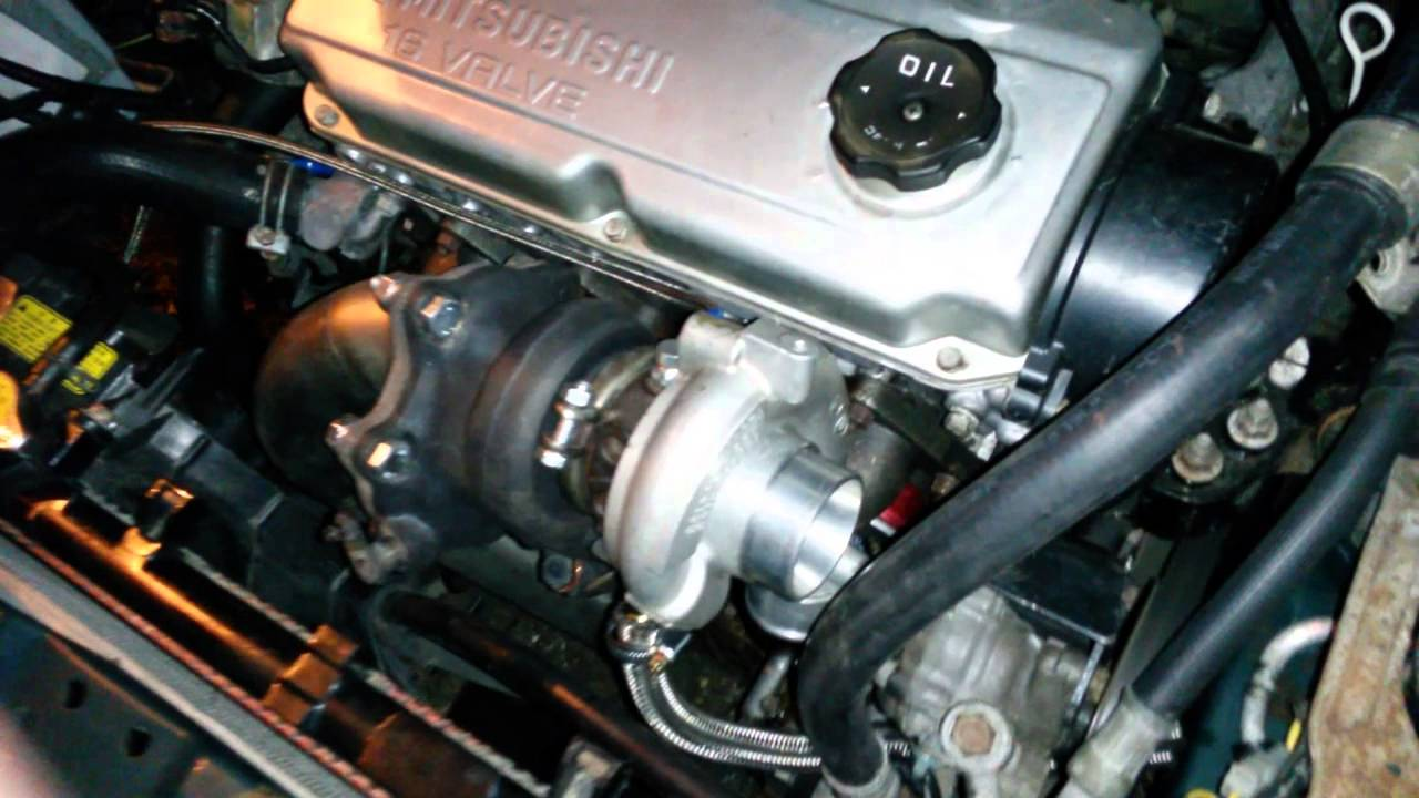 Lancer 4g92 Idling With Turbo Youtube