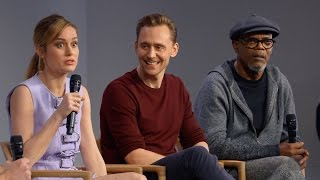 Kong: Skull Island Cast Interview with Tom Hiddleston, Brie Larson and Samuel L. Jackson