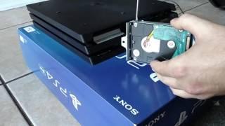 Ps4 Pro Hard Drive Removal & Swap / install new hard drive tutorial