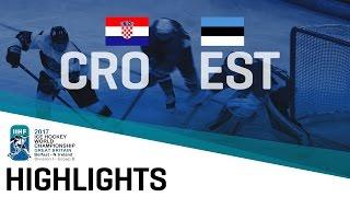 Croatia - Estonia | Highlights | 2017 IIHF Ice Hockey World Championship Division I Group B