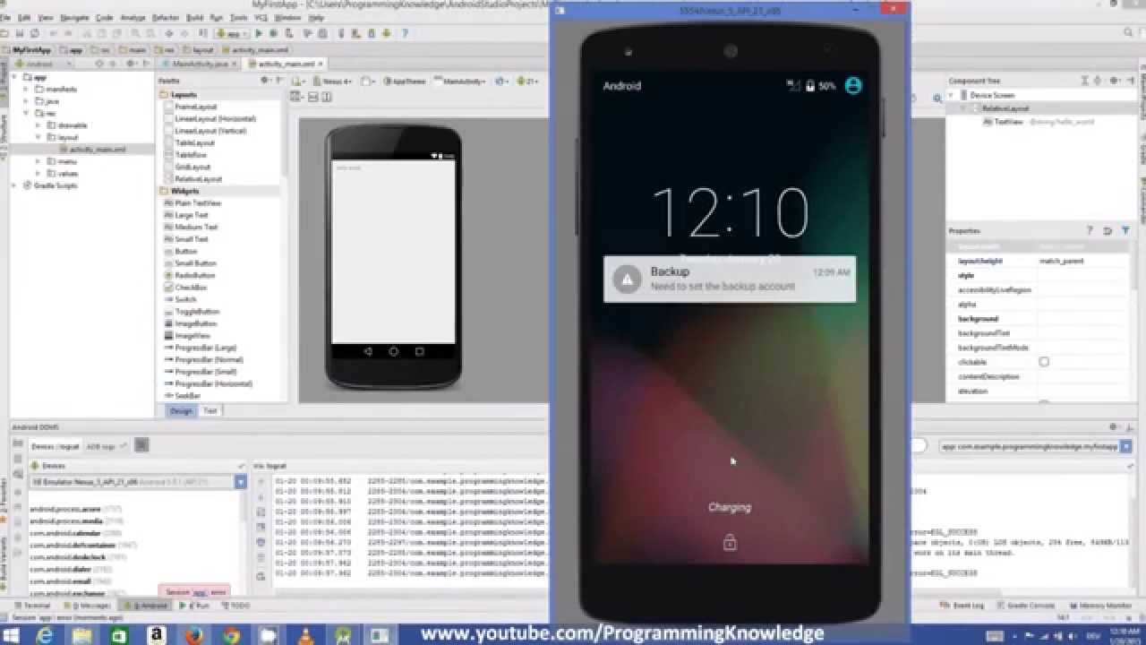 Android Tutorial # Building Your First Android App (Hello World Example)