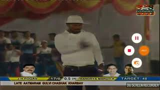 Sagar patil batting in AG trophy 2018 Kharbav