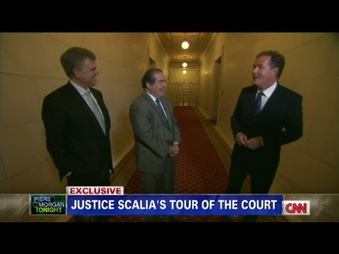 Justice Scalia gives Piers Morgan a tour