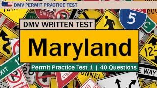 DMV written test: Maryland Permit Practice Test 1