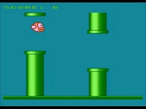 Flappy Bird Atari XE XL 8bit, Flappy by pirx