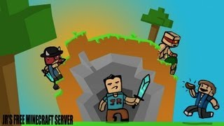 Let's Play PVP Minecraft Server Ep.1 - Killing NOOBS