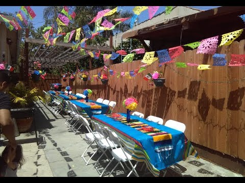 Mexican Theme Party Decorations Ideas Youtube