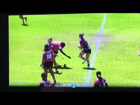 U16 Women's Rugby sensations Shameka Mack Truck Petterson massive tackle