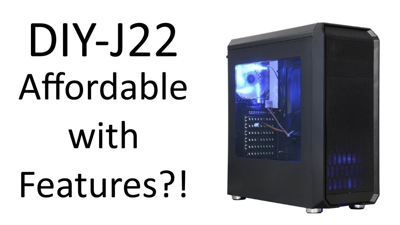 9af775e641 DIYPC DIY-J22 Mid Tower Case Unboxing / Review and Test Build! - YouTube