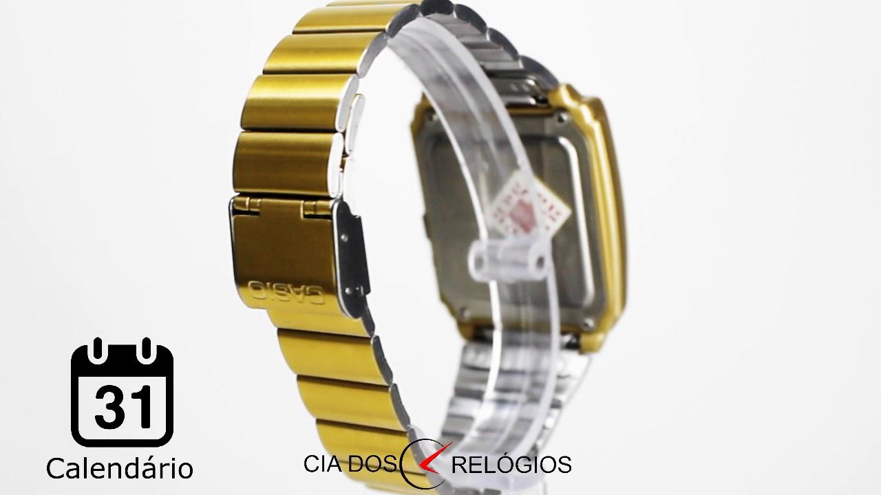 ba5a9024b6a Relógio Casio Databank Masculino CA 506G 9ADF - YouTube