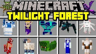 Minecraft TWILIGHT FOREST MOD! | TRAVEL TO NEW DIMENSION TO BATTLE BOSSES! | Modded Mini-Game