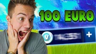 100 EUROS POUR ACHETER V-BUCKS SUR FORTNITE!