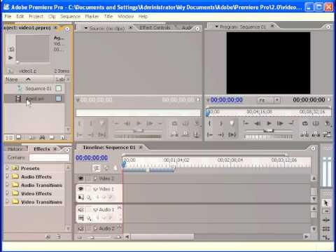 Hướng dẫn Adobe Premiere CS2(chương 1)-Giới thiệu các cửa sổ.avi