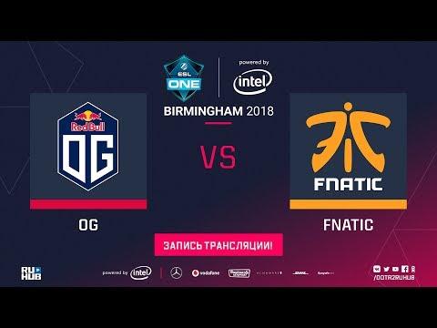 OG vs Fnatic, ESL One Birmingham, game 1 [Lex, Jam]