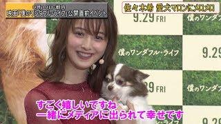 女優の佐々木希さんが19日、都内で行われた米映画『僕のワンダフル・ラ...