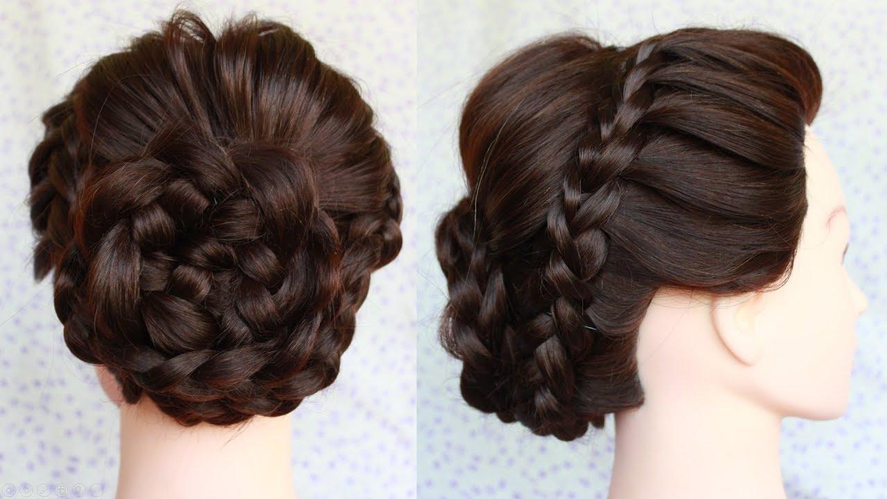 how to make perfect bridal bun in 5 minute    bridal bun hairstyle for medium hair
