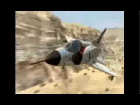 Epic dog fight! Israeli Air Force -  Mirage vs Hunter.