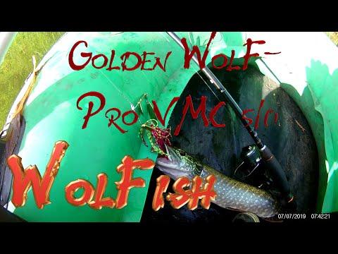 Уникальный спиннербейт Golden WolF-Pro VMC 5/0 от WolFish не имеющий мировых аналогов.