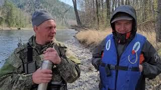Рыболовный сплав по горной реке Кур Хабаровский край Рыбалка на хариуса ленка тайменя часть 3