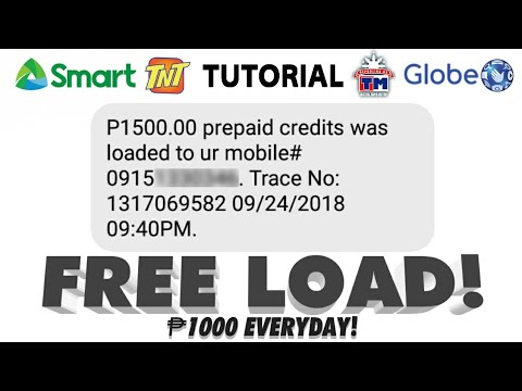 FREE ₱1000 LOAD EVERYDAY TRICK! LEGIT AND WORKING! - Globe / Smart / MOBILE LEGENDS DIAMONDS
